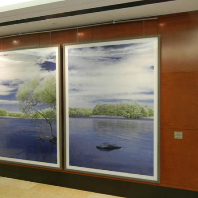 Thomas Ruff in the lobby of 980 Madison
