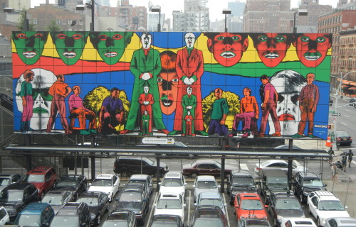 Gilbert and George on the High Line billboard