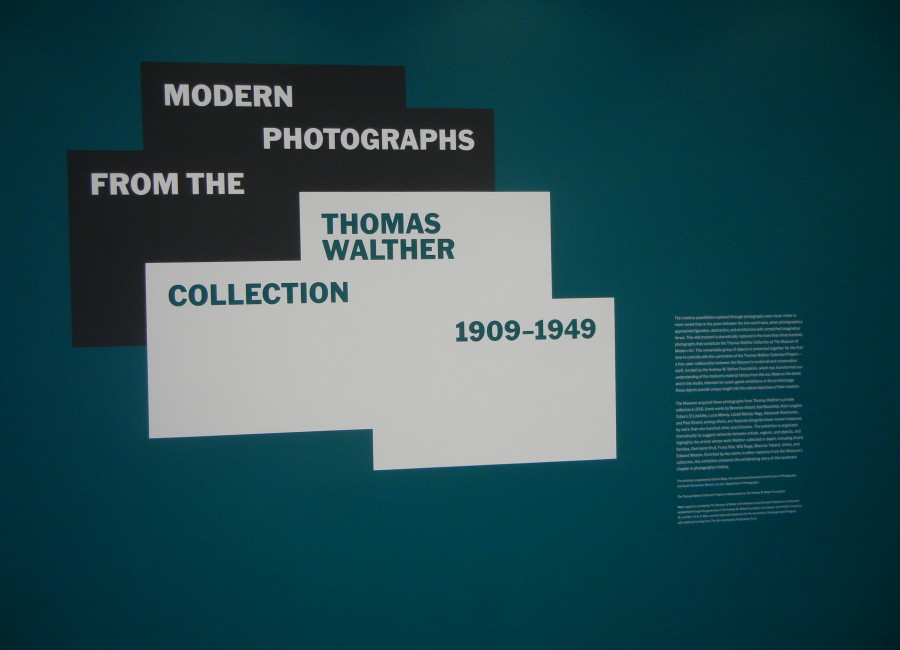 Object: Photo, Modern Photographs from the Thomas Walther Collection, 1909-1949 @MoMA