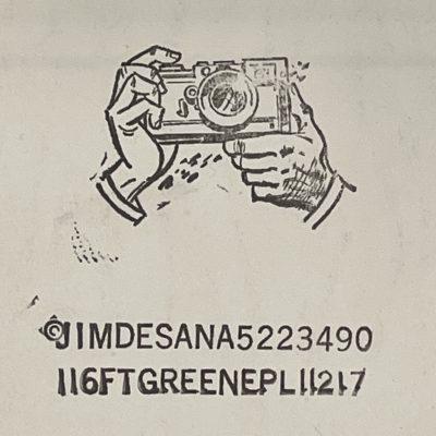 Jimmy DeSana's Ink Stamp Logo
