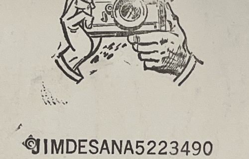 Jimmy DeSana's Ink Stamp Logo
